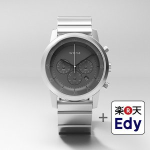 楽天Edy初期設定代行サービス付き wena wrist -Chronograph Silver-|firstflight