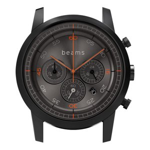 wena wrist Chronograph Premium Black BD -beams edition- Head|firstflight