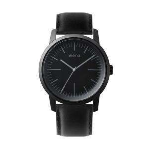 Three Hands Premium Black + wena wrist leather 22mm Black firstflight