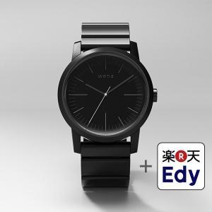 楽天Edy初期設定代行サービス付き wena wrist -Three Hands Premium Black-|firstflight
