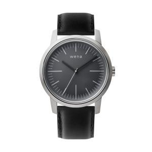 Three Hands Silver + wena wrist leather 22mm Black firstflight