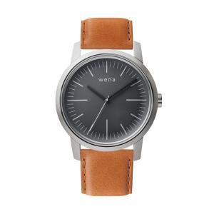Three Hands Silver + wena wrist leather 22mm Tawny Brown firstflight