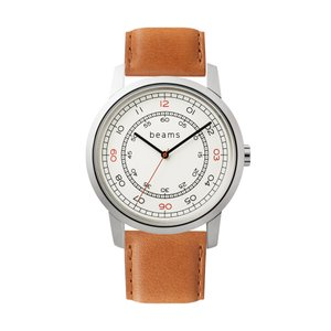 Three Hands Silver beams edition + wena wrist leather 22mm Tawny Brown firstflight