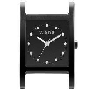 wena wrist Three Hands Square Premium Black Head|firstflight