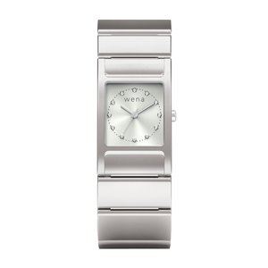wena wrist Three Hands Square Silver|firstflight