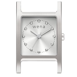 wena wrist Three Hands Square Silver Head|firstflight
