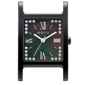 wena wrist Three Hands Square Premium Black -Crystal Edition- Head|firstflight