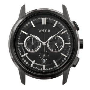 wena wrist Chronograph Classic Premium Black head|firstflight
