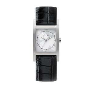 wena wrist Three Hands Square Black Croco Hanae Mori manuscrit Edition|firstflight