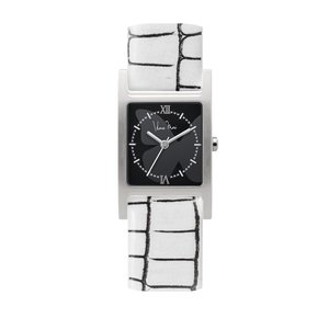 wena wrist Three Hands Square White Croco Hanae Mori manuscrit Edition|firstflight