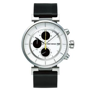 wena wrist leather Chronograph set Black -ISSEY MI...