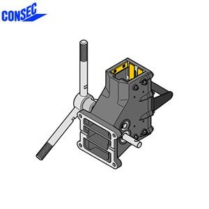 コンセック 口74 クランプ組 CL-743E コアドリル(ギヤドモータ)用 スライドプレート式 EHAC仕様(自動送り装置対応)|firstnet