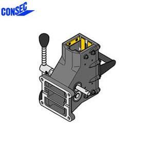 コンセック 口74 クランプ組 CL-742 コアドリル(ギヤドモータ)用 スライドプレート式|firstnet