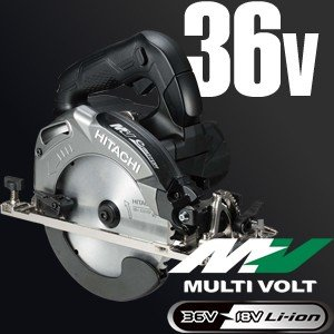 日立工機 36V/2.5Ah マルチボルト 165mmコードレス丸のこ C3606DA(2XPB) ストロングブラック 【在庫有り】[FA]|firstnet