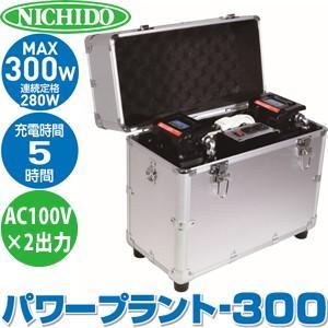 日動工業 AC100Vポータブル電源  パワープラント300 LPE-300W-LIFE|firstnet