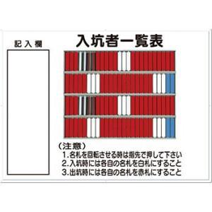 安全標識 80-C 『入坑者一覧表』 名札掛 100人用名札掛付 800×1100mm カラー鋼板 [代引不可商品]|firstnet
