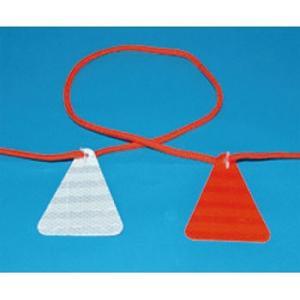 安全標識 976 ロープ付反射板 ロープ式ぴか三(ぞう) 11.7m(反射板12枚) [代引不可商品]|firstnet