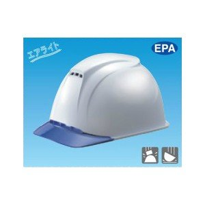 安全標識 3004 保護帽(ヘルメット) 二層構造半透明前ひさし型 エアライト EPA ABS製 [代引不可商品][送料別途お見積り]|firstnet
