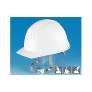 安全標識 3103-A 保護帽(ヘルメット) 前ひさし型 カラー:白 みぞ付 ABS製 [代引不可商品][送料別途お見積り]|firstnet
