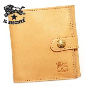 イルビゾンテ IL BISONTE 二つ折り財布 C0955-P-120/NATURAL