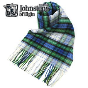 ジョンストンズ JOHNSTONS カシミヤ100% タータンチェック ストール マフラー メンズ ...