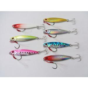 メタルジグ ジグ 40g 7.5cm アシストフック付 7色 セット 木の葉 シーバス 青物 根魚 ...