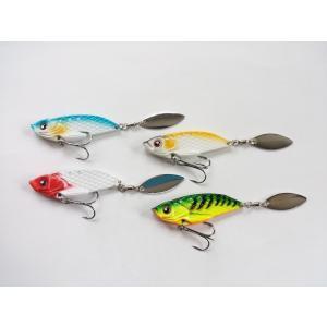 スピンテール ジグ スピナー 4色 セット 23g 本体6cm 全体で10cm メタルジグ バイブレーション シーバス 根魚 青物 フラットフィッシュの画像