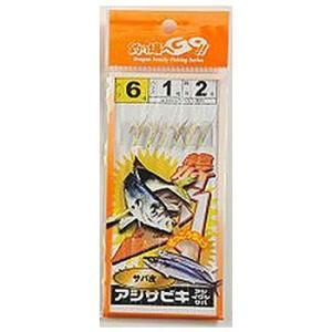 マルシン漁具 アジサビキ サバ皮 (6本針) (仕掛け) 《在庫限り》|fishing-you