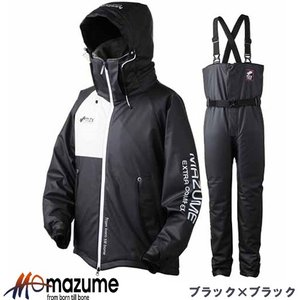 オレンジブルー マズメ MZX ラフウォーター オールウェイザースーツ MZXFW-029 ブラック×ブラック (防寒服)|fishing-you