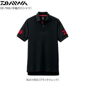 ダイワ 半袖ポロシャツ DE-7906 ブラック×レッド シャツ・Tシャツ の商品画像|ナビ