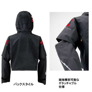 ダイワ スペシャル ゴアテックス ショートレインジャケット DR-1308J ブラック M〜XL (レインウェア)|fishing-you|02