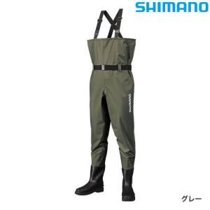 シマノ マックスデュラウェーダー (中丸チェストハイ カットフェルトソールタイプ) WA-054R グレー (チェストハイウェーダー釣り具 渓流)