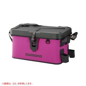 【8%OFFクーポン対象店舗】シマノ ロッドレストボートバッグ(ハード) 27L ピンク BK-00...