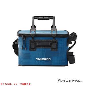 シマノ ロッドレストタックルバッグ(ハード) 27L-2 ドレイニングブルー BK-021R (EV...