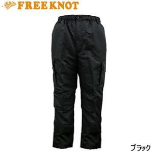 ハヤブサ フリーノット 裏ボア フリースカーゴパンツ ブラック Y2461 M〜3L (防寒パンツ)