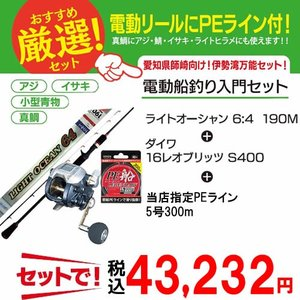 船釣り入門 師崎船釣り電動入門 3点セット (釣り竿) (釣り具)
