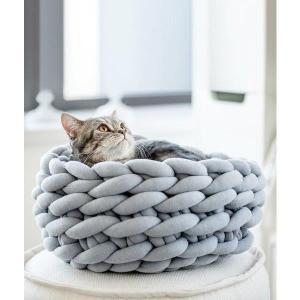 ペットハウス ペットベッド 犬/ネコの巣 ペット用品 かわいい ふわふわ  ドッグ 猫用  四季通用 DIY手編み 毛糸  品質がよい サイズS-M
