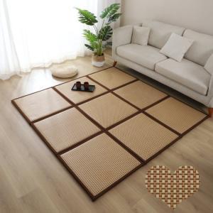 4色60cm*60cm1枚 籐マット置き畳 ユニット 畳 半畳 正方形 水拭き可 汚れにくい ペット...