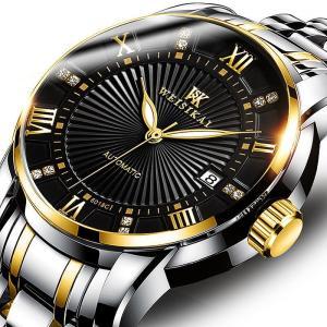 腕時計 クロノグラフ  メンズ 30m防水 Aesop腕時計 自動巻上げ式   オールステンレス うでどけい ブランド  機械式|fit-001