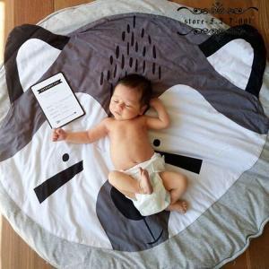 ベビーマット 床 赤ちゃん プレイマット 丸型 円形 低反発 フリル 北欧 おしゃれ ラグ 丸  遊びマット ベビー|fit-001