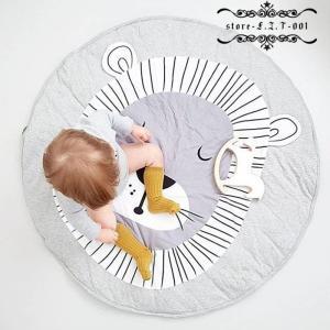 プレイマット ベビー おしゃれ 北欧 ラグ 丸型 円形 低反発 オールシーズン 床 赤ちゃん 子供 キッズ ロードマップラグ|fit-001
