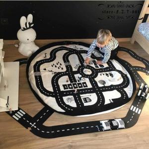 ベビープレイマット キッズ 遊びマット おもちゃ収納袋 片付けマット ブロック収納マット かわいい おしゃれ 北欧 誕生日プレゼント|fit-001