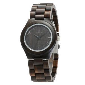 腕時計 木製 木 黒檀 メンズ レディース クォーツ ペアルック カップル 天然木 クォーツ時計 木の温もり お安い おしゃれ かっこいい 人気急上昇 fit-001