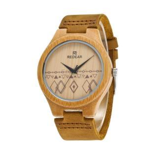 腕時計 竹製 木 本革 レザー メンズ レディース クォーツ カップル 天然木 クォーツ時計 木の温もり 上品 ファション おしゃれ かっこいい 人気急上昇 fit-001