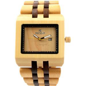 クォーツ時計 メンズ スタイリッシュ オシャレ 腕時計 木製 自然に優しい 竹製 いい香り カッコイ...