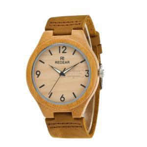 腕時計 レディース メンズ 竹製 レザーバンド レザー 竹木 シンプル 上品 通勤 大人 オシャレ 大人気 普段着 お仕事 パーティー fit-001