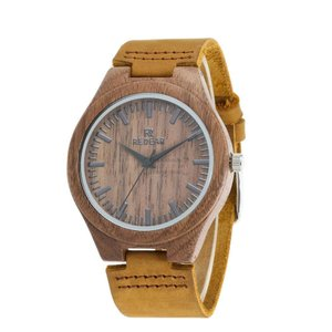 腕時計 メンズ クルミ 木製 天然木 木 レザー レザーバンド オシャレ シンプル 木の香り いい香り 大人 上品 男性用 お仕事 職場 普段着 fit-001