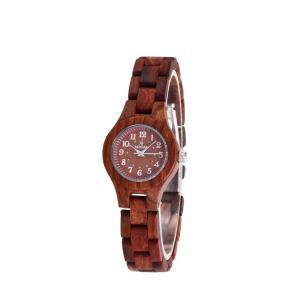 レディース 腕時計 木製腕時計 クォーツ時計 黒檀 赤檀 上品 シンプル 天然木 木の温もり 木の香り プレゼント 普段着 自然に優しい fit-001