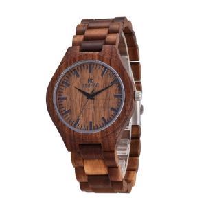 木製腕時計 メンズ クォーツ時計 クルミ 天然木 自然に優しい 上品 大人 シンプル オシャレ 木の香り 木の温もり 普段着 お祝い ビジネス fit-001