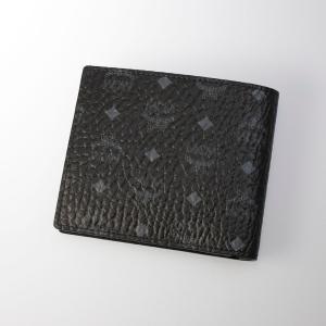 MCM エムシーエム  VISETOS折小銭付 MXS8SVI66/BK001 ブラック/コンビ ギフトラッピング無料|FIT HOUSE